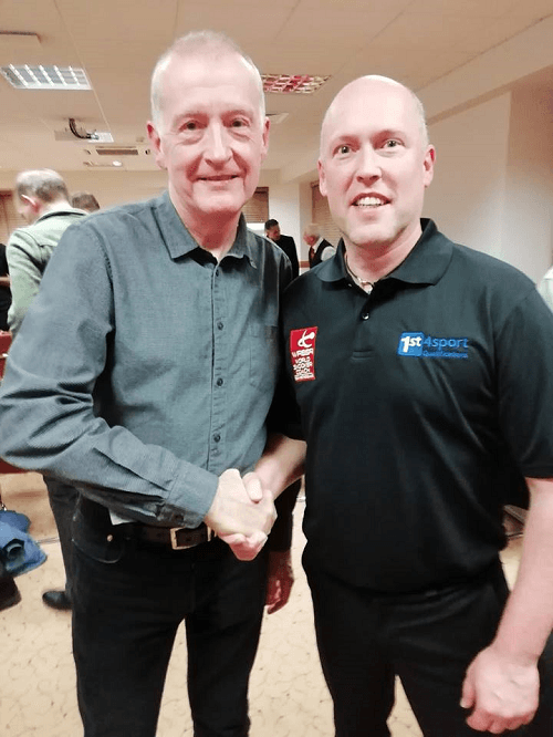 Steve Davis and Coach Eric de Ruyver